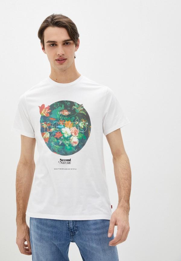 мужская футболка с коротким рукавом levi's®, белая