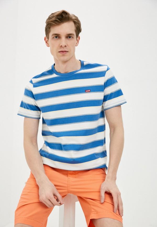 мужская футболка с коротким рукавом levi's®, голубая