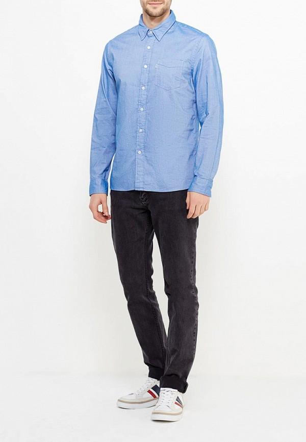Фото 2 - Рубашку Levi's® голубого цвета