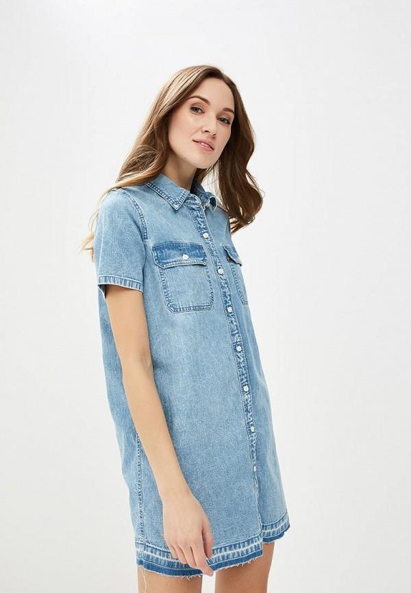 Купить Платье джинсовое Levi's®, le306ewadgj5, голубой, Весна-лето 2018