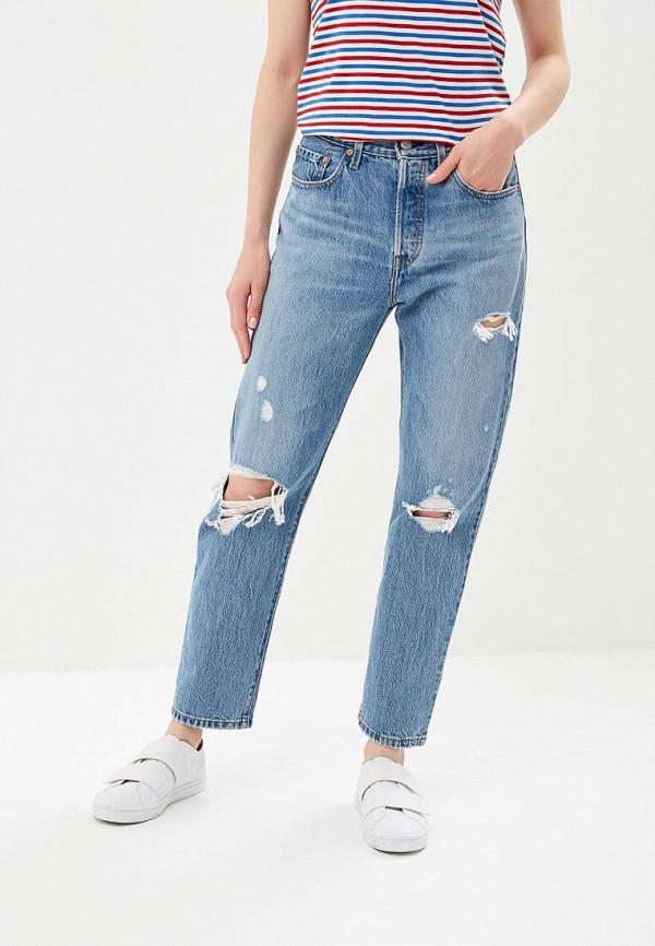 женские джинсы бойфренд levi's®, голубые
