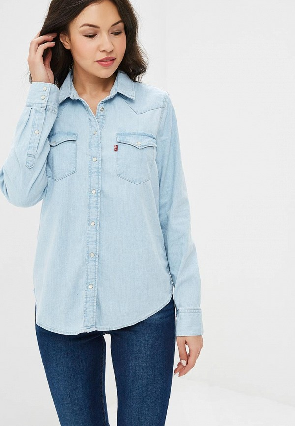Купить Рубашка джинсовая Levi's®, le306ewbplc2, голубой, Осень-зима 2018/2019