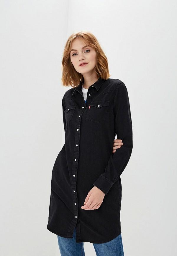 Купить Платье джинсовое Levi's®, LE306EWBPLV8, черный, Осень-зима 2018/2019