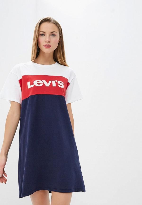 Синее платье Levi
