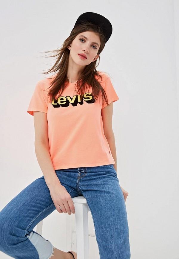 женская футболка levi's®, оранжевая
