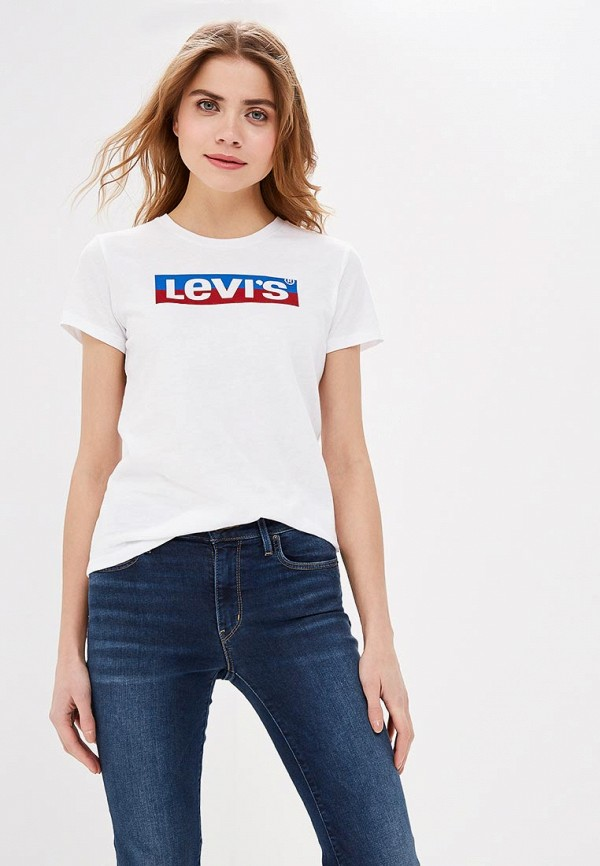 женская футболка levi's®, белая