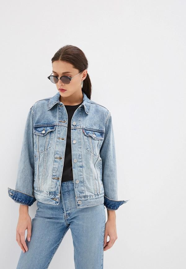 Фото - Куртку джинсовая Levi's® голубого цвета