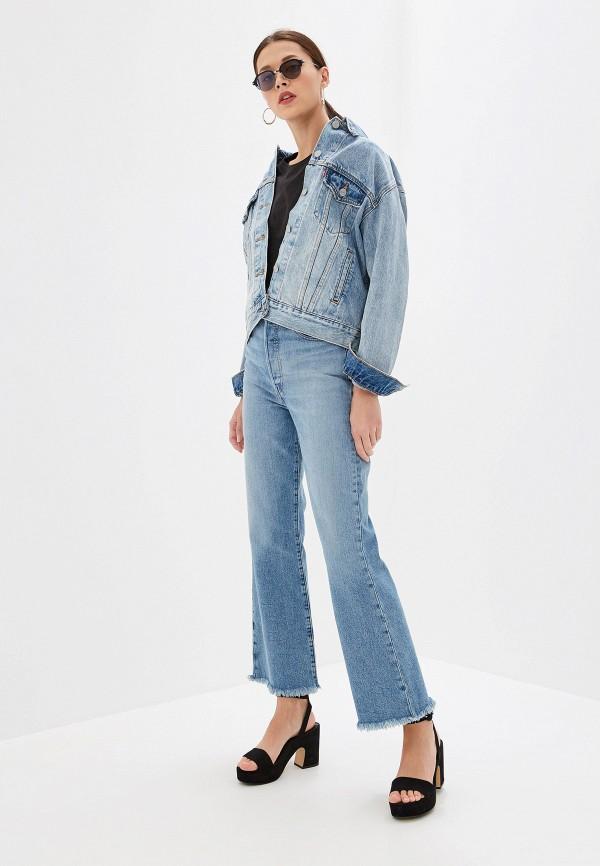 Фото 2 - Куртку джинсовая Levi's® голубого цвета