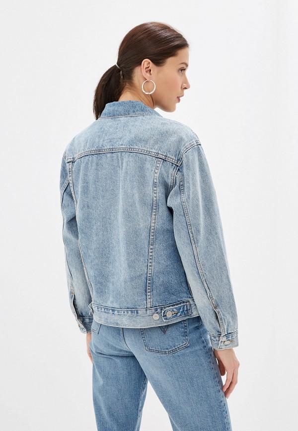 Фото 3 - Куртку джинсовая Levi's® голубого цвета