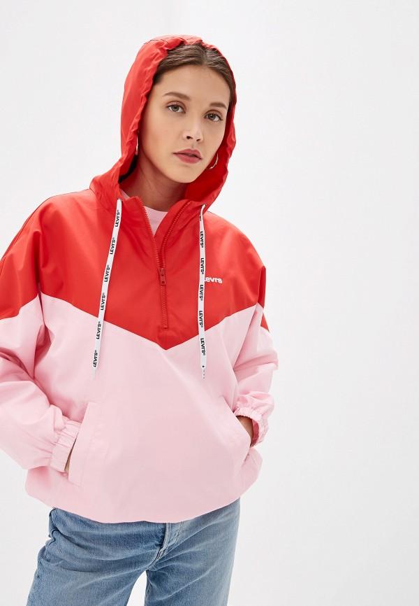 женская ветровка levi's®, розовая