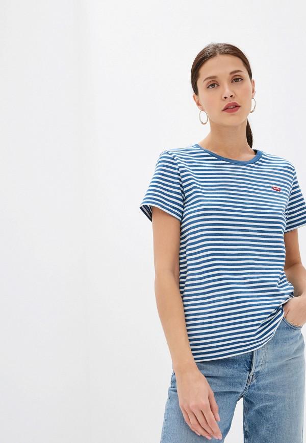 женская футболка levi's®, синяя