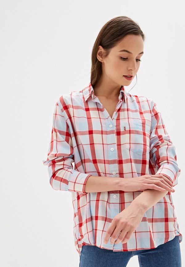 женская рубашка с длинным рукавом levi's®, красная