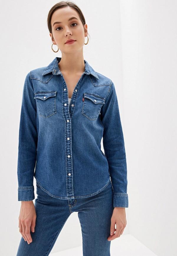 женская джинсовые рубашка levi's®, синяя
