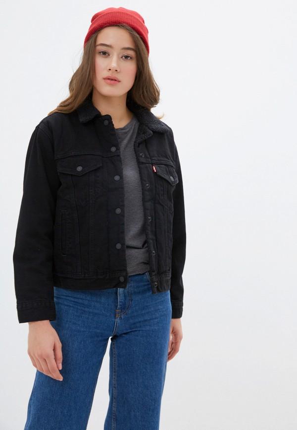 женская джинсовые куртка levi's®, черная