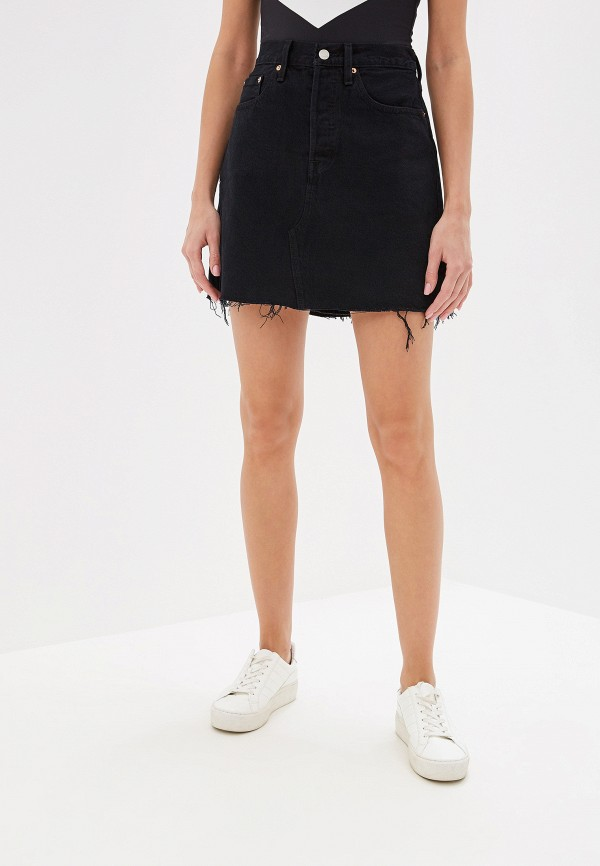 Купить Юбку джинсовая Levi's® черного цвета