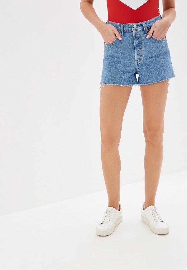 женские джинсовые шорты levi's®, голубые
