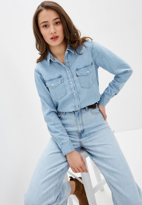 женская джинсовые рубашка levi's®, голубая