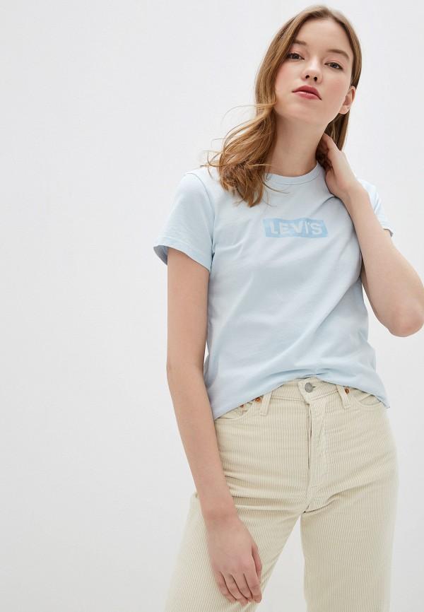 женская футболка levi's®, голубая