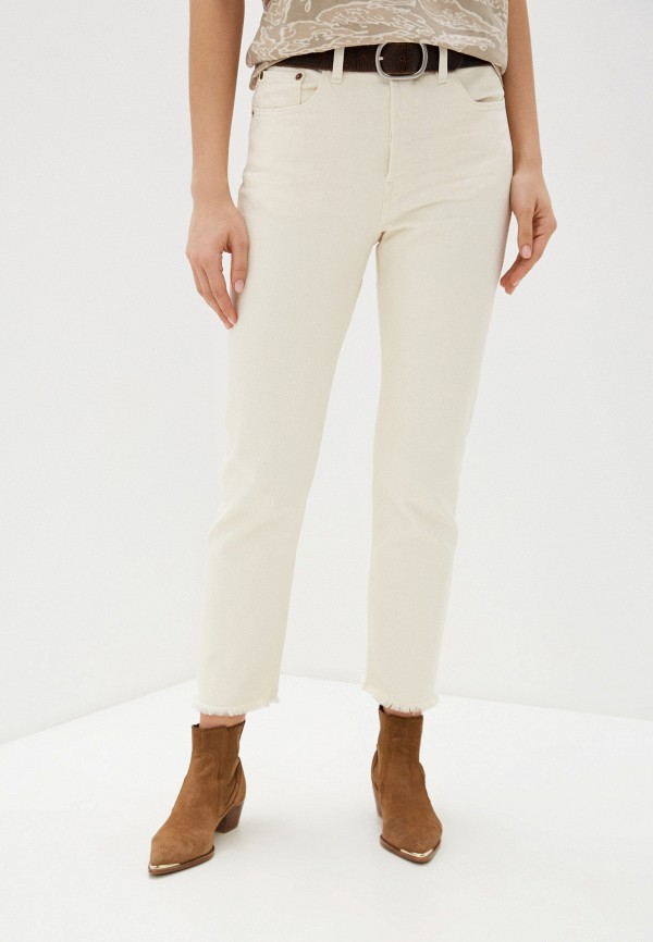 женские прямые джинсы levi's®, бежевые