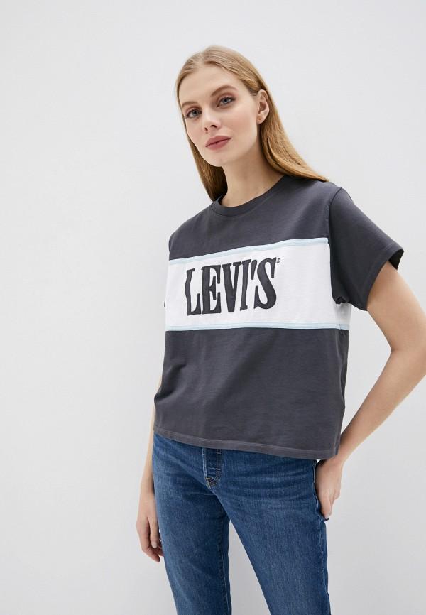 женская футболка levi's®, серая