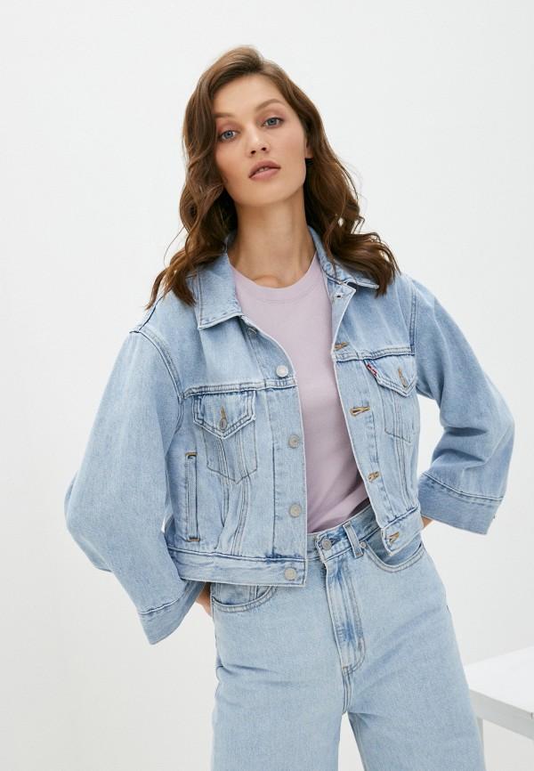 женская джинсовые куртка levi's®, голубая
