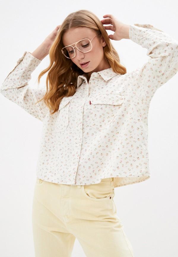 женская рубашка с длинным рукавом levi's®, бежевая