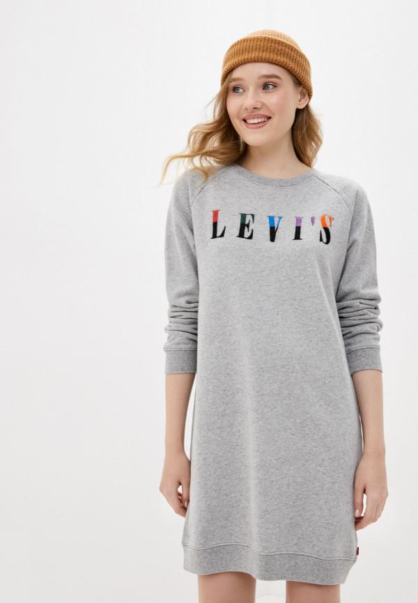 женское платье-толстовки levi's®, серое