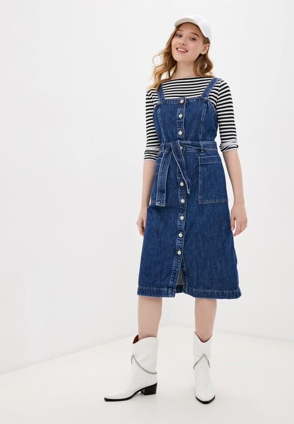 женское джинсовые платье levi's®, синее