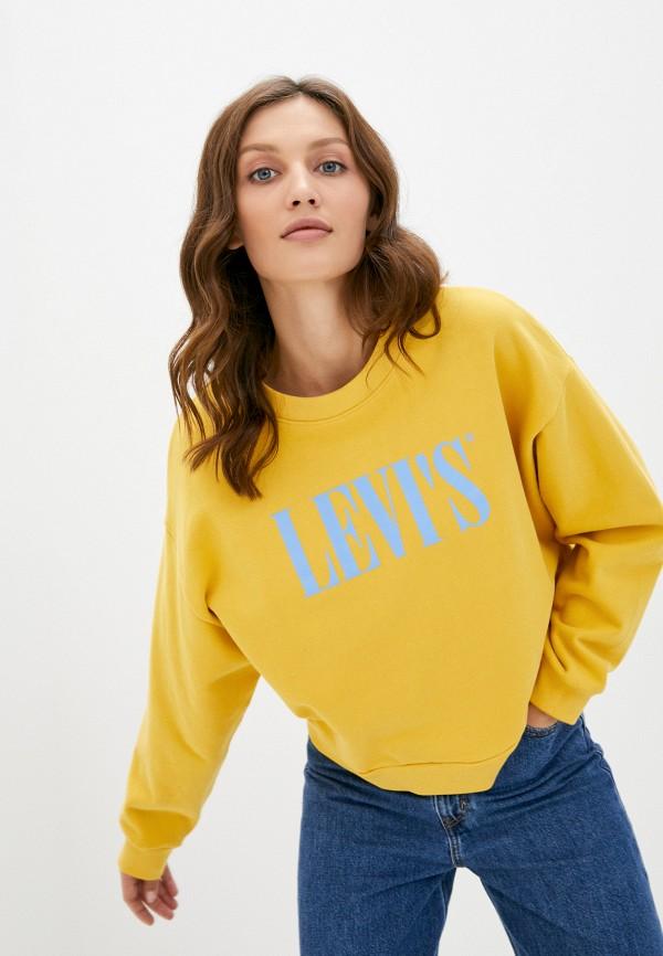 женский свитшот levi's®, желтый