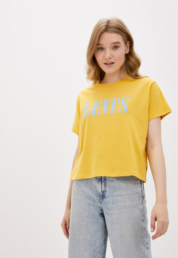 женская футболка levi's®, желтая