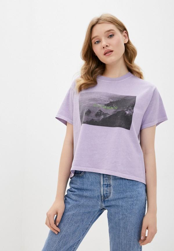 женская футболка levi's®, фиолетовая