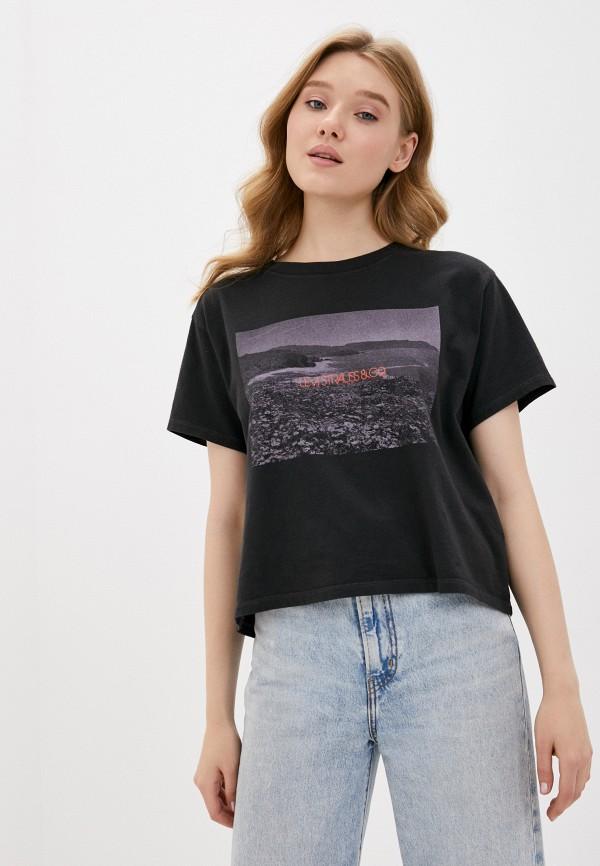женская футболка levi's®, черная
