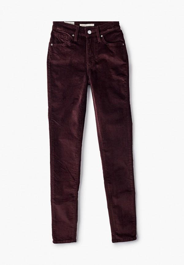 женские повседневные брюки levi's®, бордовые