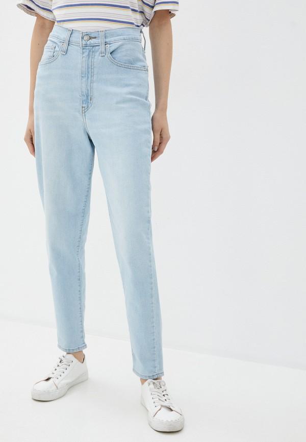 женские джинсы с высокой посадкой levi's®, голубые