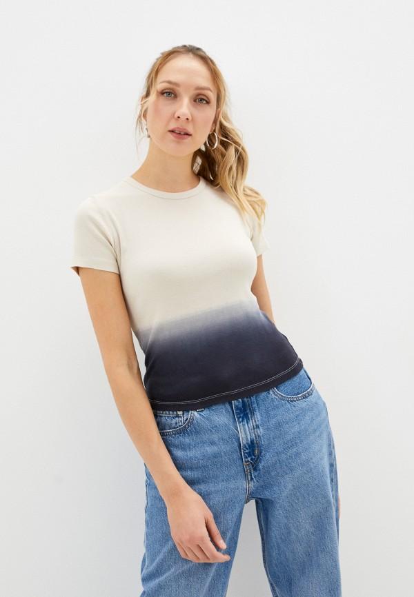 женская футболка levi's®, бежевая