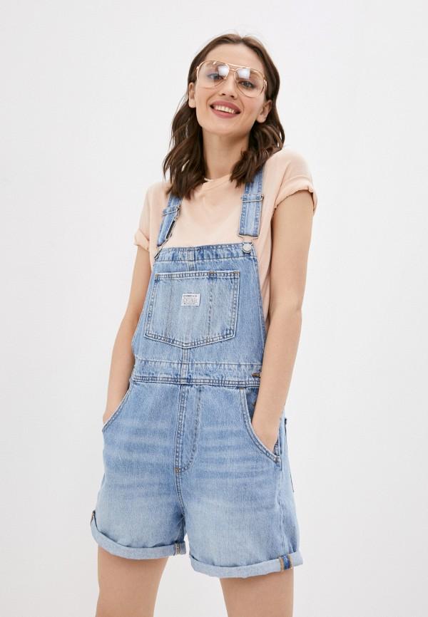 женский джинсовые комбинезон levi's®, голубой