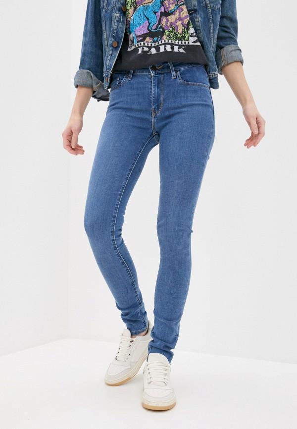 женские джинсы скинни levi's®, голубые