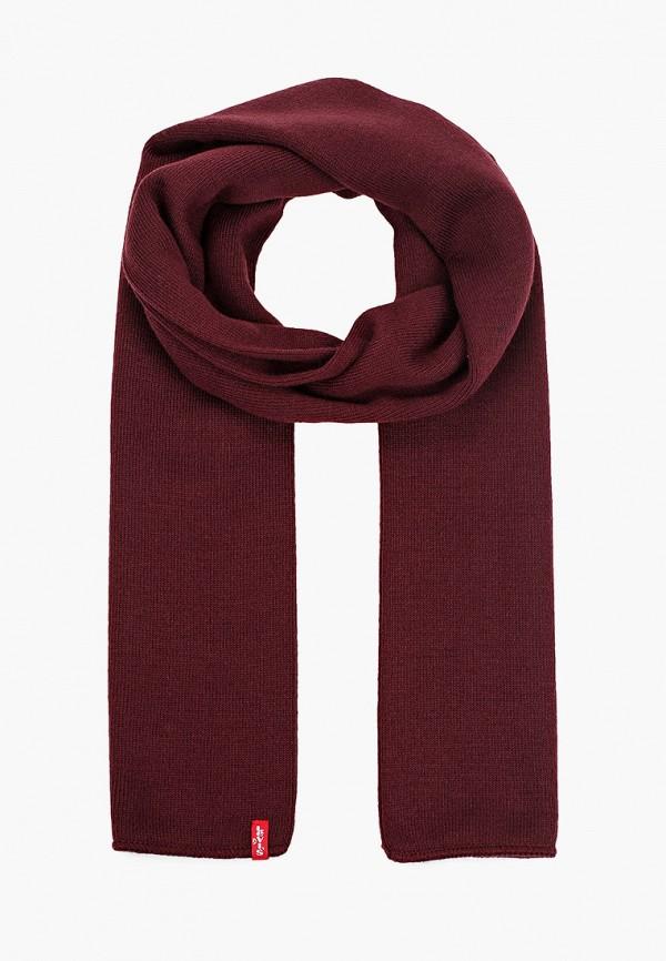 мужской шарф levi's®, бордовый