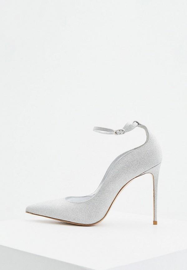 женские туфли le silla, серебряные