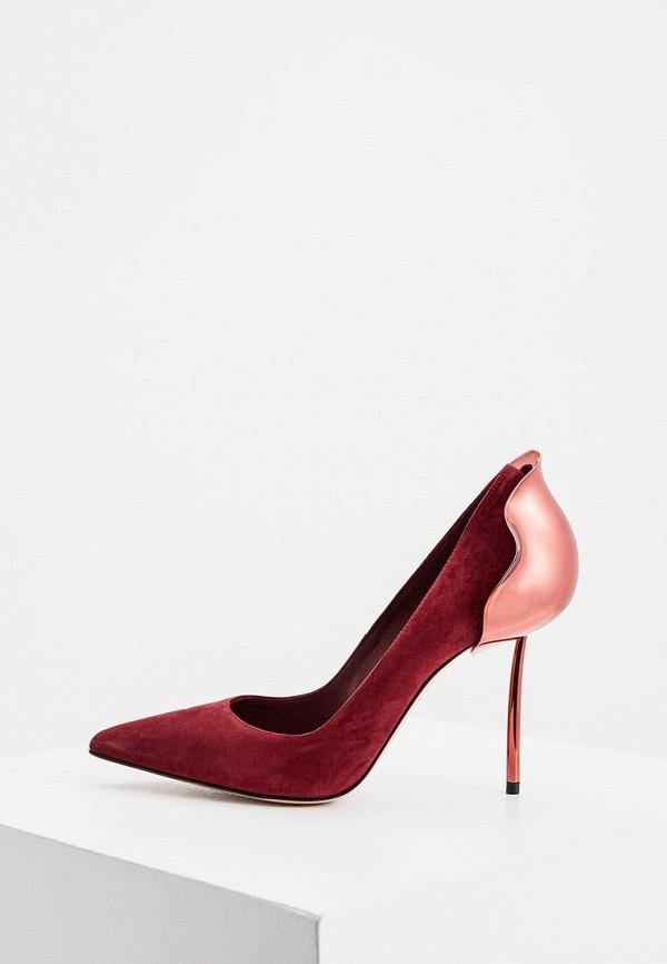 женские туфли le silla, бордовые