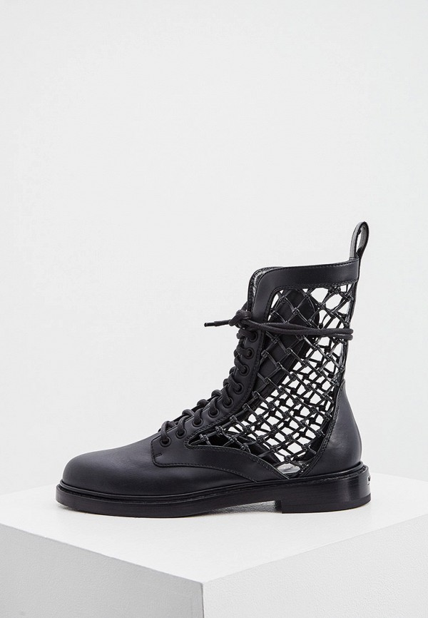 женские высокие ботинки le silla, черные