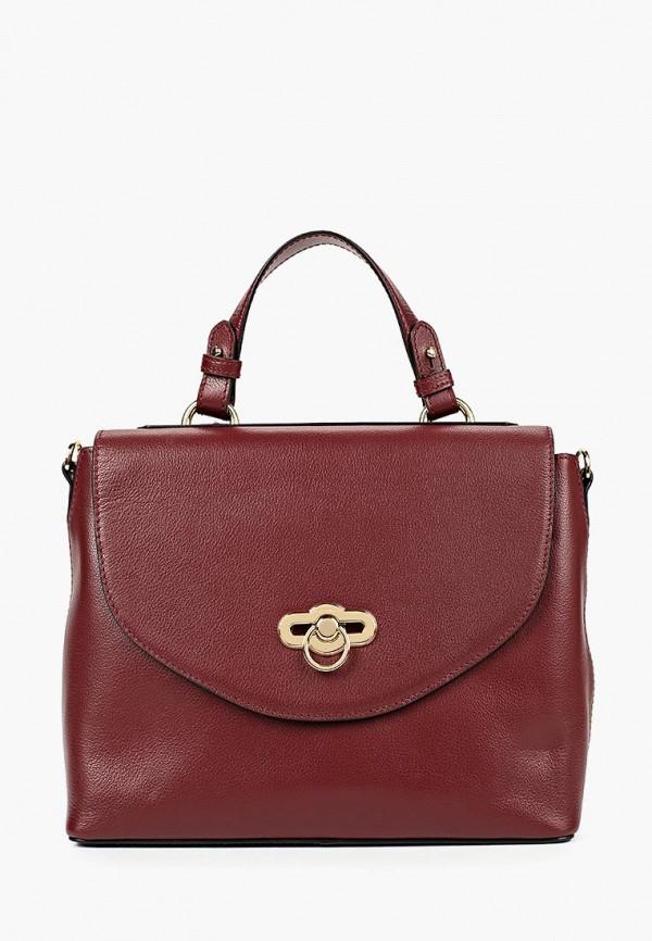 женская сумка с ручками leo ventoni, бордовая