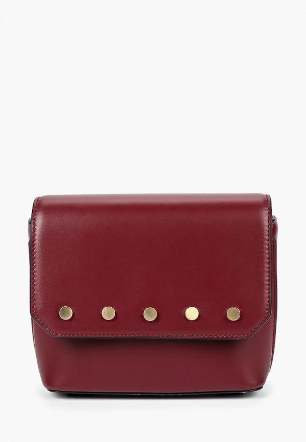 женская сумка через плечо leo ventoni, бордовая