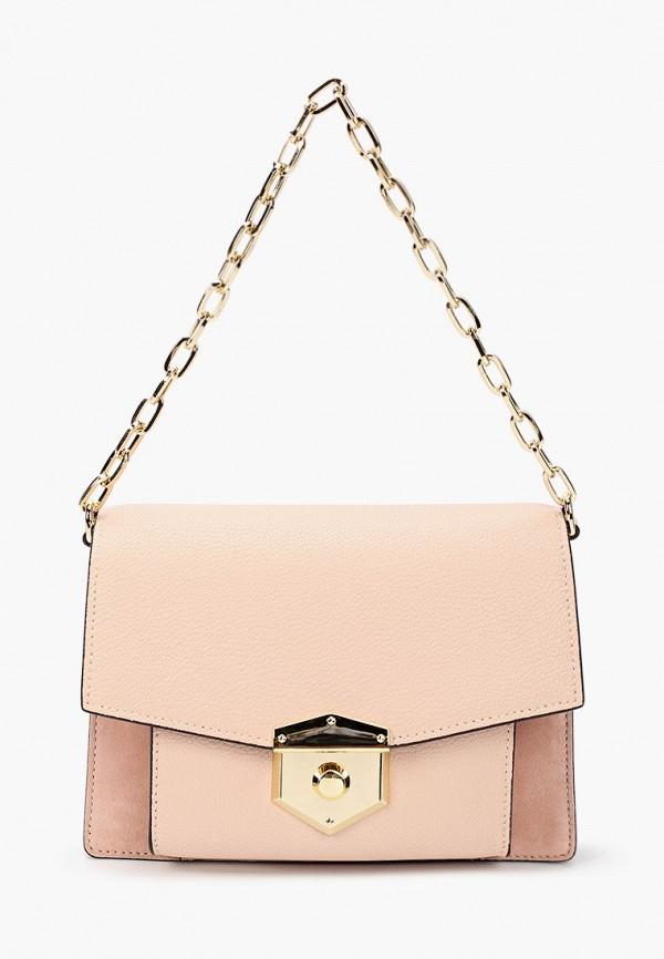 женская сумка через плечо leo ventoni, розовая