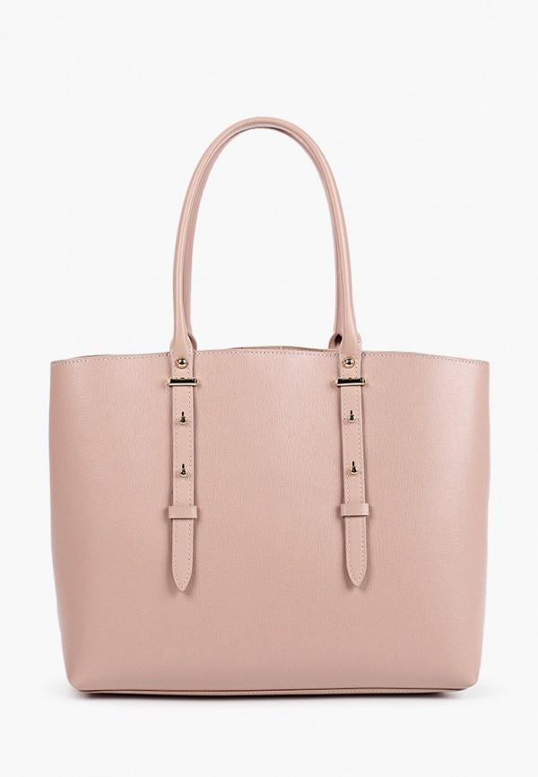 женская сумка-шоперы leo ventoni, розовая