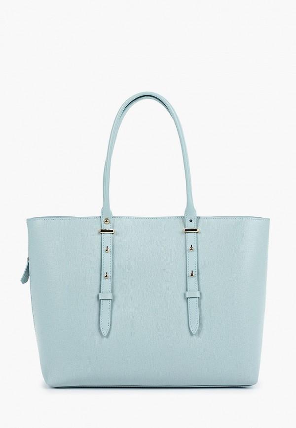 женская сумка-шоперы leo ventoni, голубая