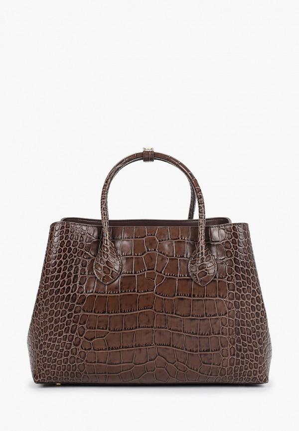 женская сумка с ручками leo ventoni, коричневая