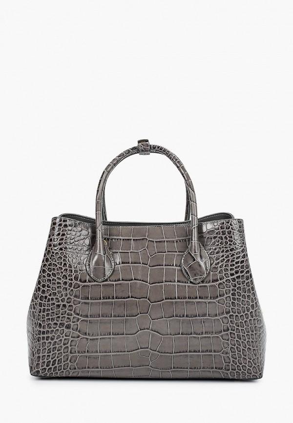 женская сумка с ручками leo ventoni, серая