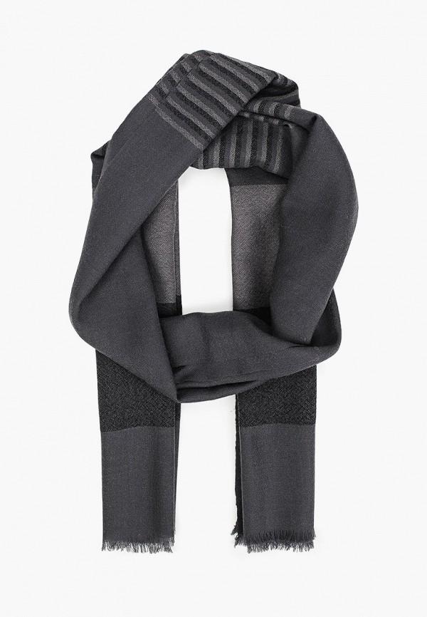 мужской шарф leo ventoni, серый