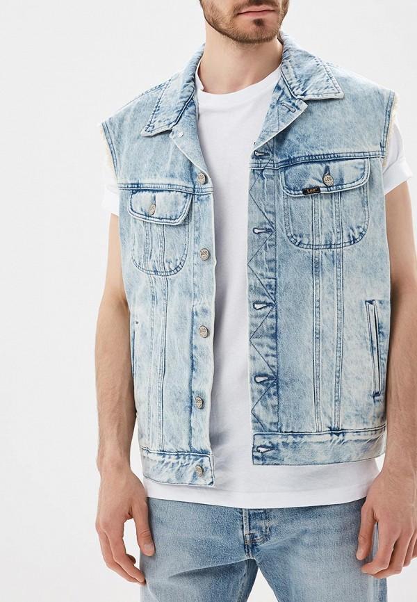 Купить Жилет джинсовый Lee, LE807EMBOGY1, голубой, Осень-зима 2018/2019